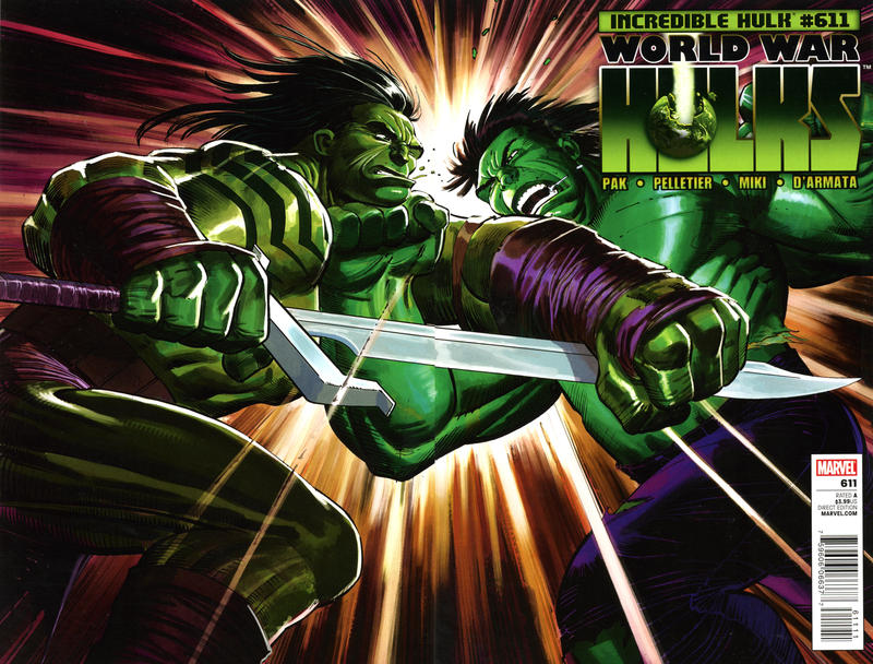 Cover for Incredible Hulk (Marvel, 2009 series) #611 [Direct Edition]