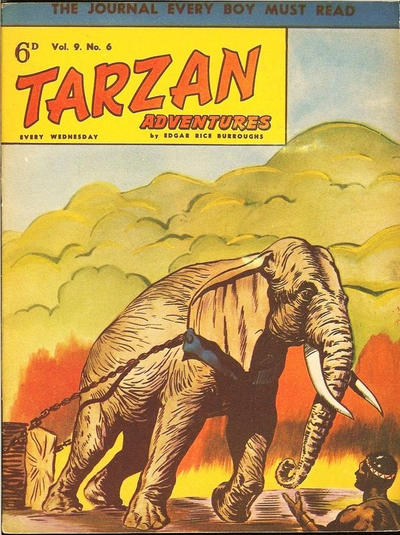 Cover for Tarzan Adventures (Westworld Publications, 1953 series) #v9#6