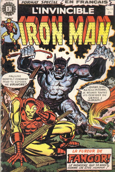 Cover for L'Invincible Iron Man (Editions Héritage, 1972 series) #11