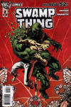 Cover for Swamp Thing (DC, 2011 series) #2 [Second Printing Variant Cover (red background)]