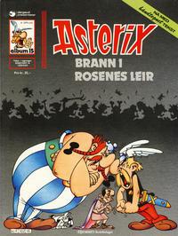 Cover Thumbnail for Asterix (Hjemmet / Egmont, 1969 series) #15 - Brann i rosenes leir [4. opplag]