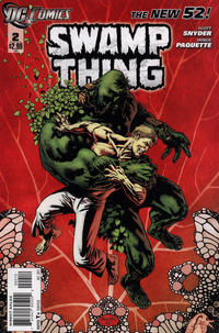 Cover Thumbnail for Swamp Thing (DC, 2011 series) #2 [Second Printing Variant Cover (red background)]