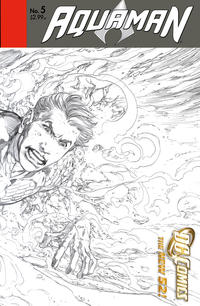 Cover Thumbnail for Aquaman (DC, 2011 series) #5 [Wraparound Sketch Variant Cover]