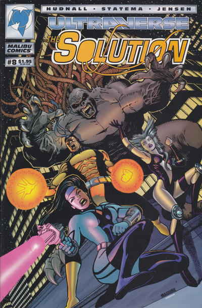Cover for The Solution (Malibu, 1993 series) #8 [Newsstand]