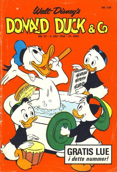 Cover for Donald Duck & Co (Hjemmet / Egmont, 1948 series) #27/1968