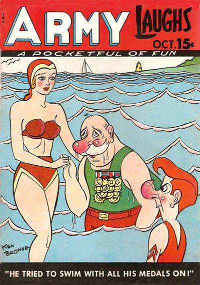 Cover for Army Laughs (Prize, 1941 series) #v8#7