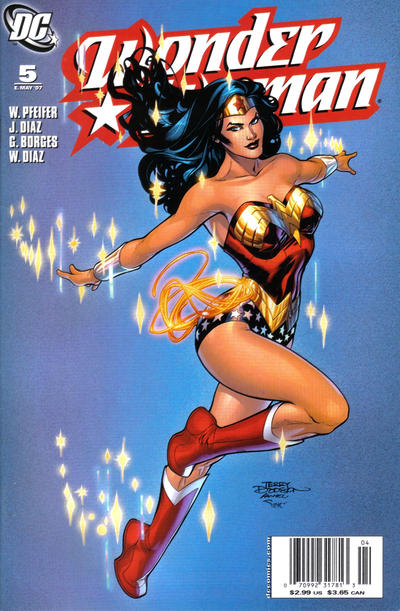 Cover for Wonder Woman (DC, 2006 series) #5 [Newsstand Edition]