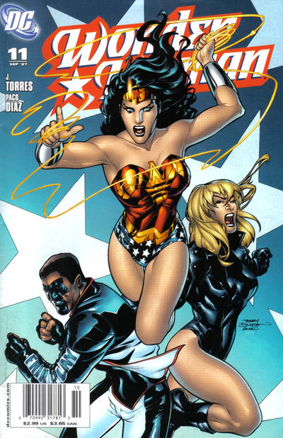 Cover for Wonder Woman (DC, 2006 series) #11 [Newsstand Edition]