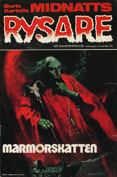 Cover for Boris Karloffs midnattsrysare (Semic, 1972 series) #12/1973