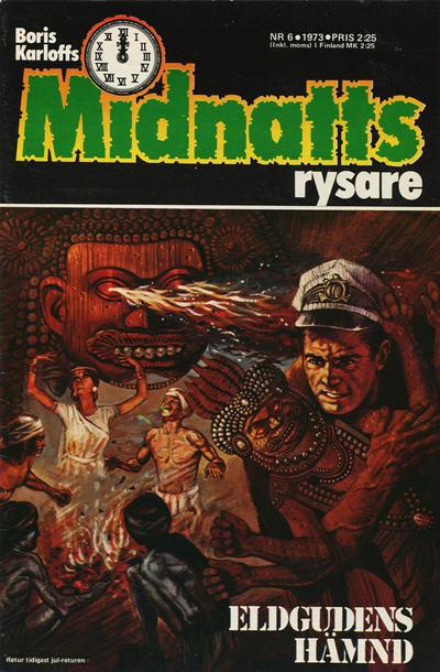 Cover for Boris Karloffs midnattsrysare (Semic, 1972 series) #6/1973