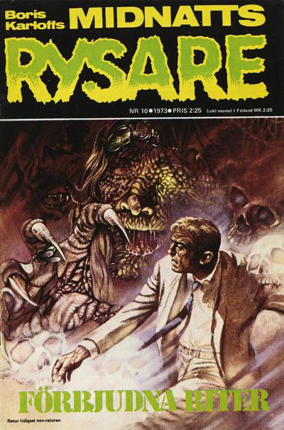 Cover for Boris Karloffs midnattsrysare (Semic, 1972 series) #10/1973