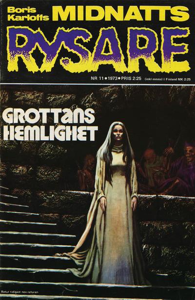 Cover for Boris Karloffs midnattsrysare (Semic, 1972 series) #11/1973
