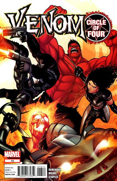 Cover for Venom (Marvel, 2011 series) #13 [Clayton Crain Variant Cover]