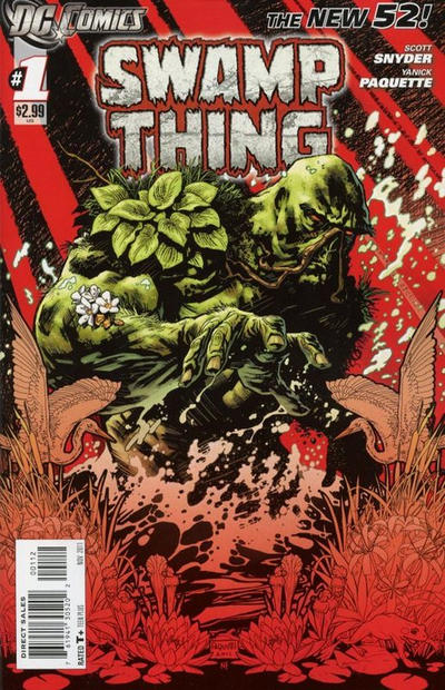Cover for Swamp Thing (DC, 2011 series) #1 [3rd Printing - Grey Background]