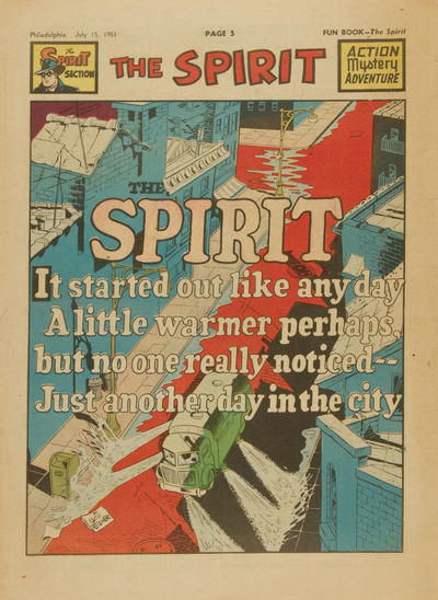 Cover for The Spirit (Register and Tribune Syndicate, 1940 series) #7/15/1951