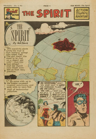 Cover for The Spirit (Register and Tribune Syndicate, 1940 series) #7/8/1951