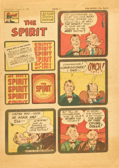 Cover for The Spirit (Register and Tribune Syndicate, 1940 series) #8/12/1951