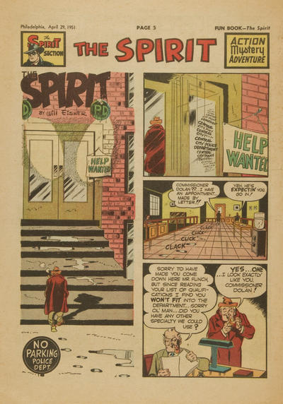 Cover for The Spirit (Register and Tribune Syndicate, 1940 series) #4/29/1951