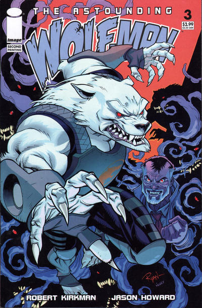Cover for The Astounding Wolf-Man (Image, 2007 series) #3 [second printing]