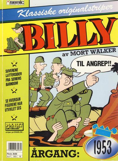 Cover for Billy Klassiske originalstriper (Semic, 1989 series) #1953 [1. opplag]