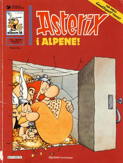 Cover for Asterix (Hjemmet / Egmont, 1969 series) #16 - Asterix i alpene! [5. opplag]