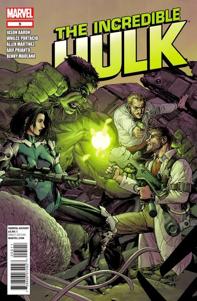Cover for The Incredible Hulk (Marvel, 2011 series) #5