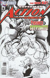Cover for Action Comics (DC, 2011 series) #6 [Andy Kubert Black & White Cover]