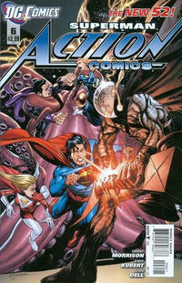 Cover Thumbnail for Action Comics (DC, 2011 series) #6 [Incentive Cover Edition]