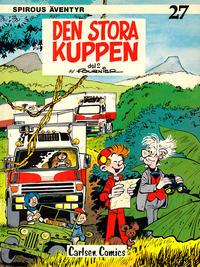 Cover Thumbnail for Spirous äventyr (Carlsen/if [SE], 1974 series) #27 - Den stora kuppen del 2