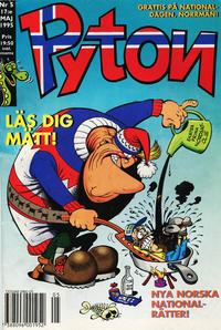 Cover Thumbnail for Pyton (Atlantic Förlags AB, 1990 series) #5/1995