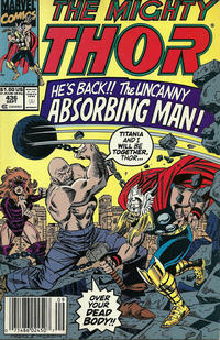 Cover Thumbnail for Thor (Marvel, 1966 series) #436 [Newsstand]