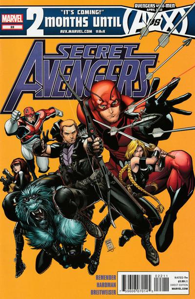 Cover for Secret Avengers (Marvel, 2010 series) #22