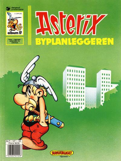 Cover for Asterix (Hjemmet / Egmont, 1969 series) #17 - Byplanleggeren [6. opplag]