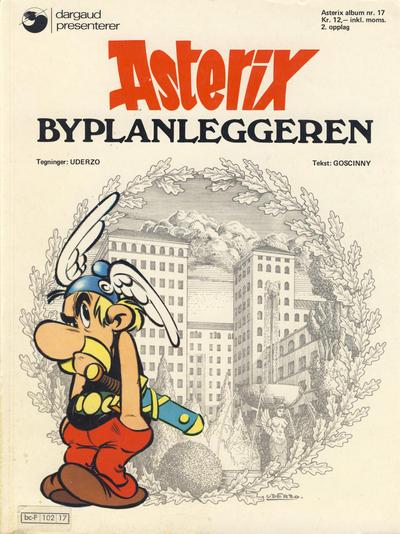 Cover for Asterix (Hjemmet / Egmont, 1969 series) #17 - Byplanleggeren