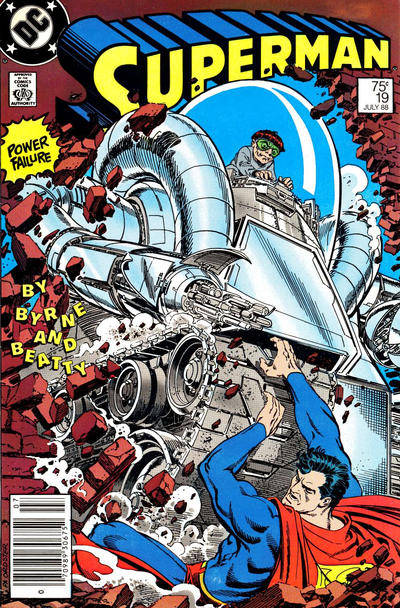 Cover for Superman (DC, 1987 series) #19 [Direct Edition]