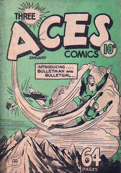 Cover for Three Aces Comics (Anglo-American Publishing Company Limited, 1941 series) #v1#12