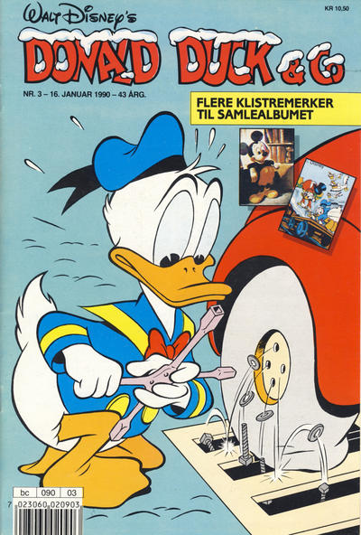 Cover for Donald Duck & Co (Hjemmet / Egmont, 1948 series) #3/1990
