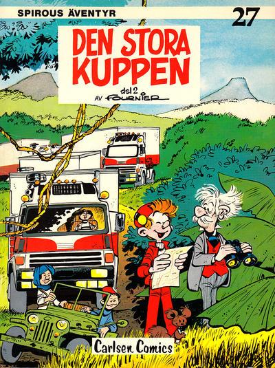 Cover for Spirous äventyr (Carlsen/if [SE], 1974 series) #27 - Den stora kuppen del 2