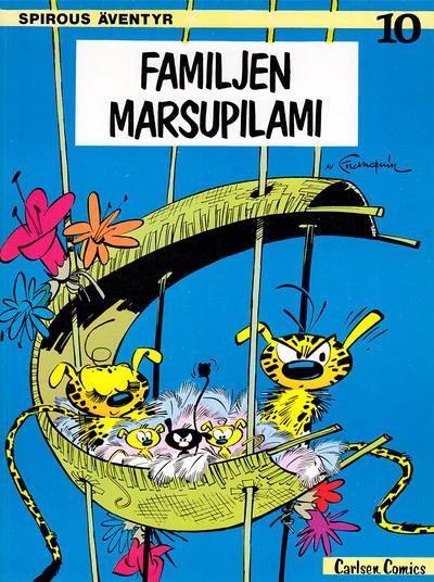Cover for Spirous äventyr (Carlsen/if [SE], 1974 series) #10 - Familjen Marsupilami
