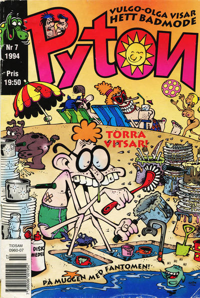 Cover for Pyton (Atlantic Förlags AB, 1990 series) #7/1994