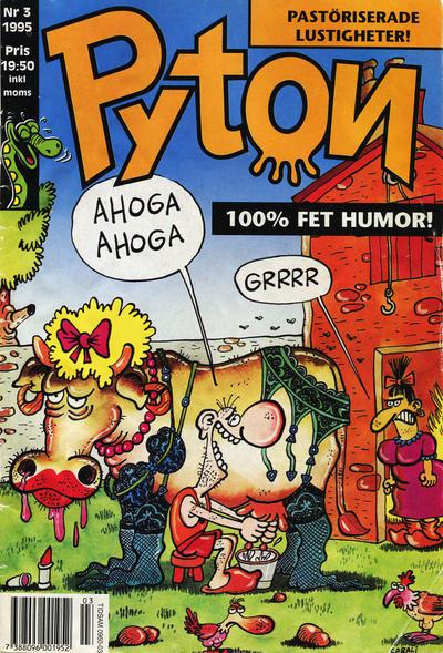 Cover for Pyton (Atlantic Förlags AB, 1990 series) #3/1995