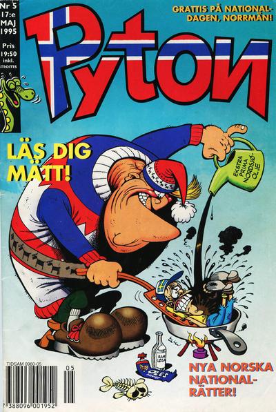Cover for Pyton (Atlantic Förlags AB, 1990 series) #5/1995