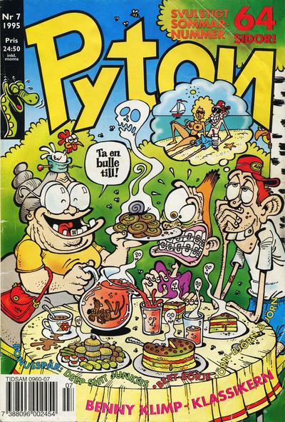 Cover for Pyton (Atlantic Förlags AB, 1990 series) #7/1995