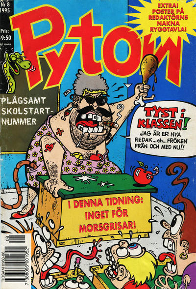 Cover for Pyton (Atlantic Förlags AB, 1990 series) #8/1995
