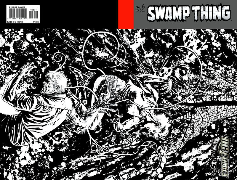 Cover for Swamp Thing (DC, 2011 series) #6 [Yanick Paquette Variant Sketch Cover]