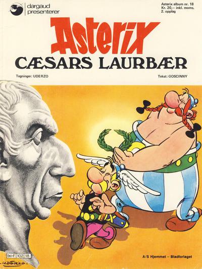 Cover for Asterix (Hjemmet / Egmont, 1969 series) #18 - Cæsars laurbær [1. opplag]