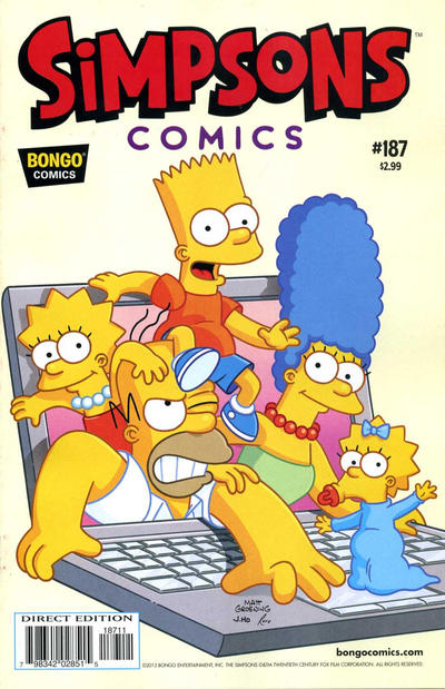 Cover for Simpsons Comics (Bongo, 1993 series) #187