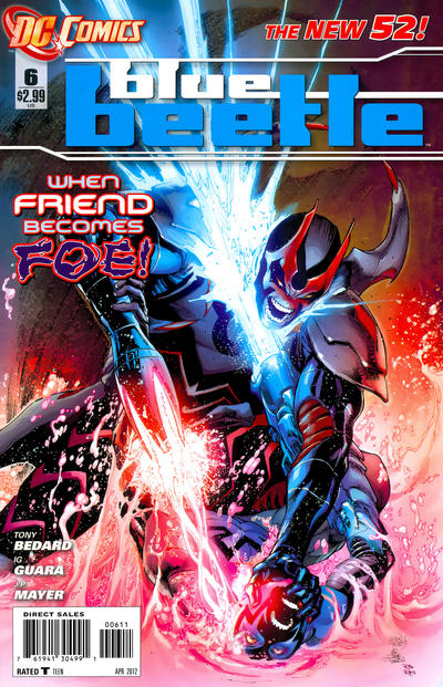 Cover for Blue Beetle (DC, 2011 series) #6