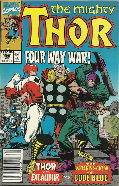 Cover for Thor (Marvel, 1966 series) #428 [Newsstand Edition]