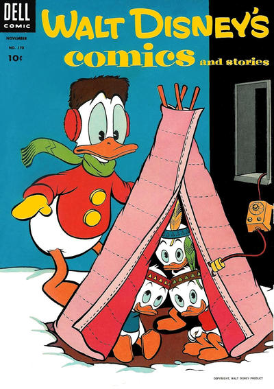 Cover for Walt Disney's Comics and Stories (Dell, 1940 series) #v15#2 (170) [Price on Cover]